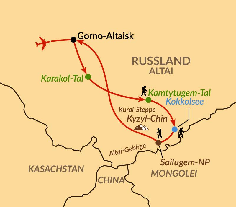 Karte: Altai – im Land der Schneeleoparden