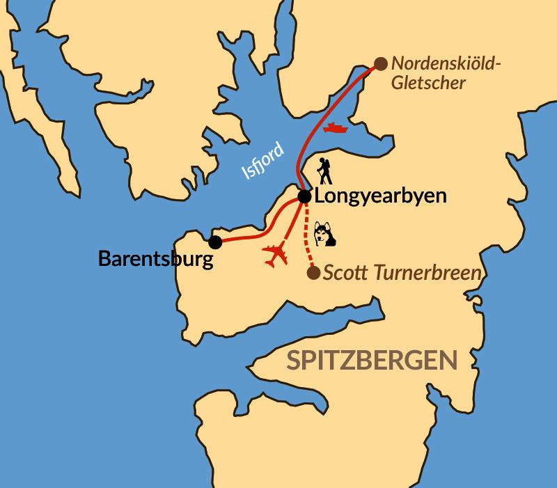 Karte: Winter auf Spitzbergen