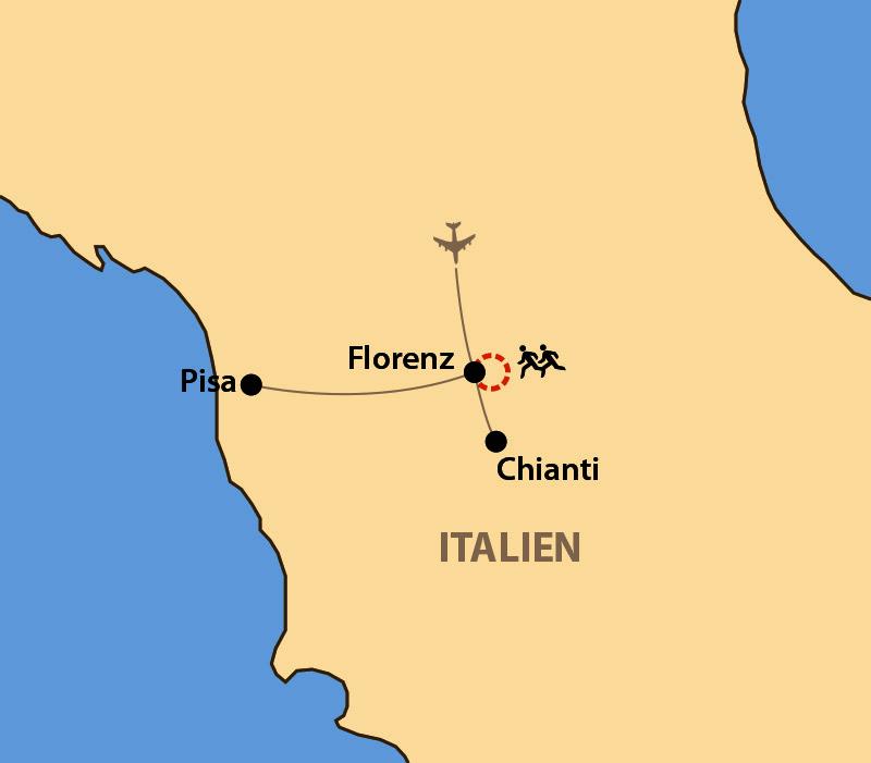 Karte: Florenz-Marathon