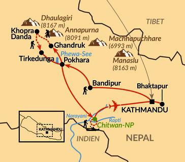 Karte: Götter, Tempel, Bergpanoramen
