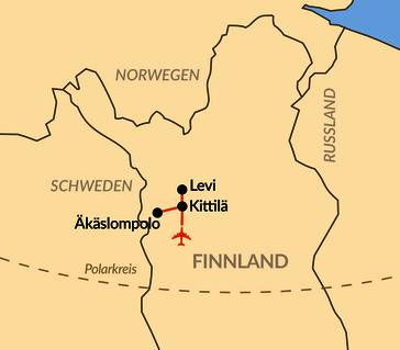 Karte: Winterzauber in Lappland (individuell)