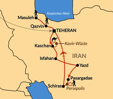 Karte: Zu Gast im alten Persien