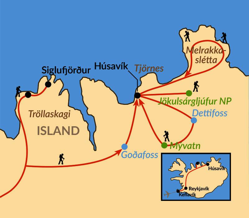 Karte: Die Weite des Nordens