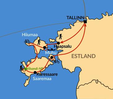 Karte: Estlands Inseln im Aufwind
