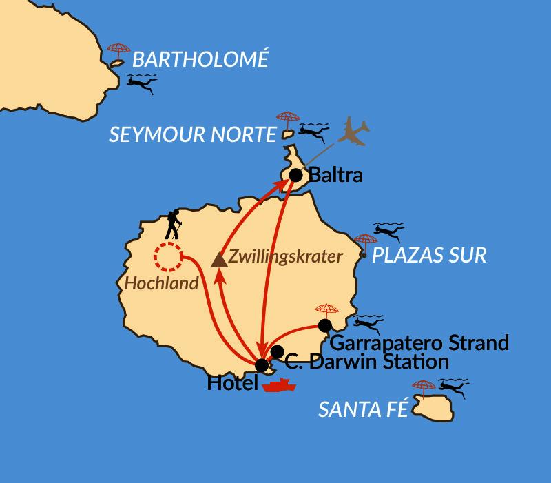 Karte: Verlängerung: Wunderwelt Galapagos