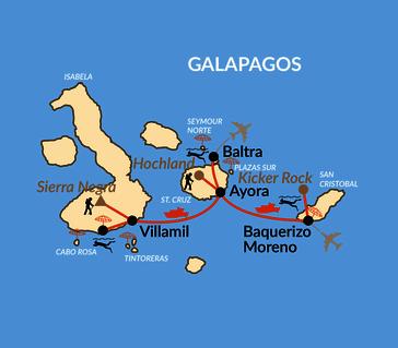 Karte: Verlängerung: Galapagos intensiv