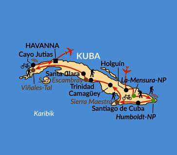 Karte: Kuba intensiv