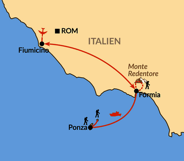 Karte: Pontinische Inseln - Geheimtipp in Roms Nachbarschaft