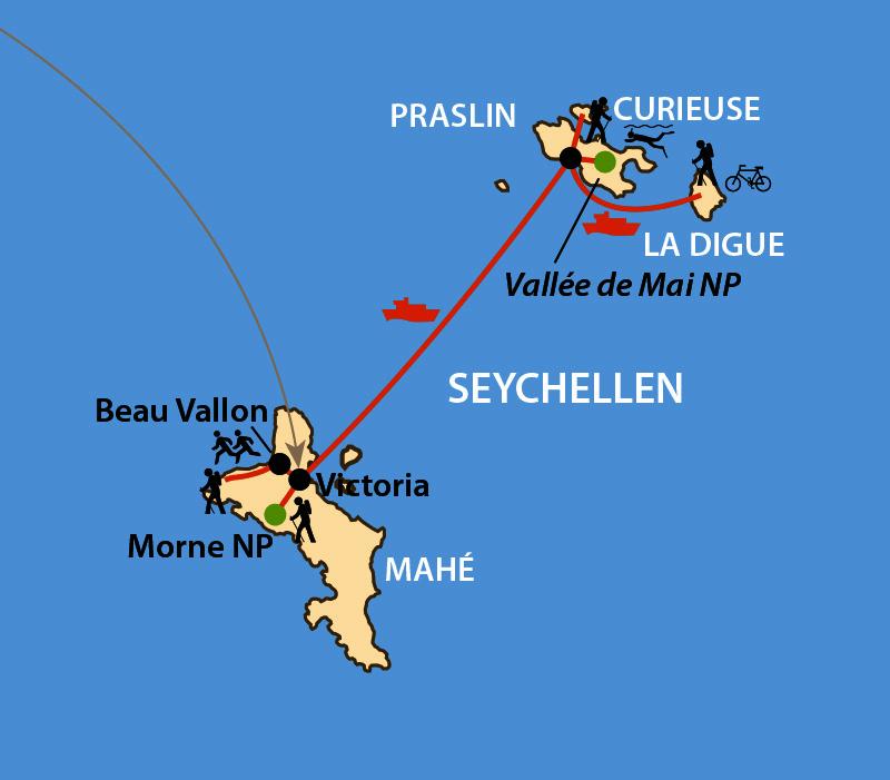 Karte: Seychellen-Marathon