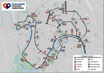 Karte: Moskau-Marathon