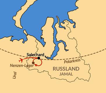 Karte: Jamal – Zu den Nenzen, den Rentiernomaden am Polarkreis
