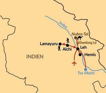 """Karte: Zu den schönsten Plätzen in """"Little Tibet"""""""