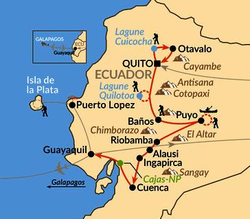 Karte: Naturparadies am Äquator