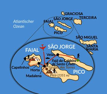 Karte: Arnes Azoren - wo der Winter ein Frühling ist