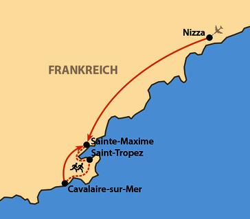 Karte: Saint-Tropez Marathon