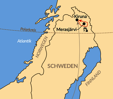 Karte: Auf leisen Pfoten durch die letzte Wildnis Schwedisch Lapplands