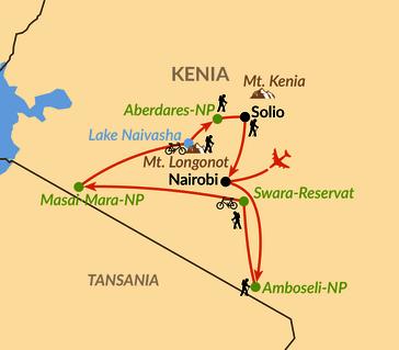 Mount Kenia Karte.Kenia Aktive Safaris Zwischen Mt Kenya Und Kilimanjaro