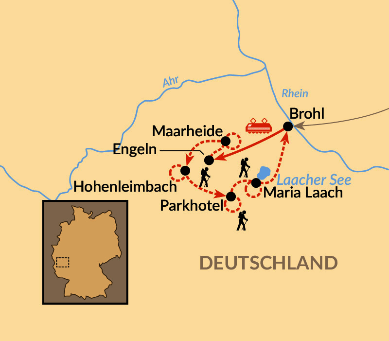 Karte: Die Eifel entdecken - zu Fuß!