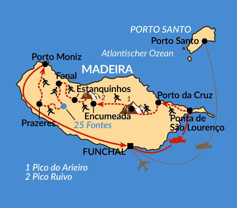 Karte: Madeira Trailrun