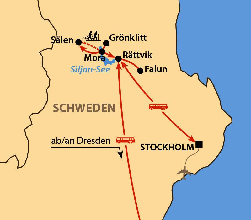 Karte: Vasaloppet 2021: Vasaåket
