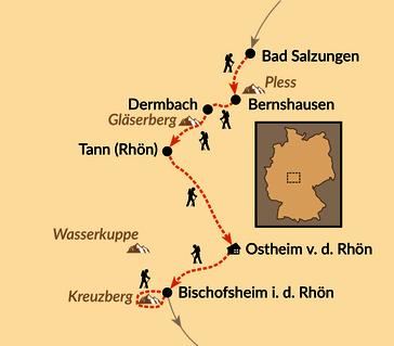 Karte: Biosphärenreservat Rhön – Land der offenen Fernen