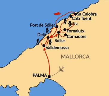 Karte: Mallorca – Berge, Meer, Kulinarik und besondere Wege