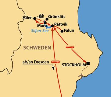 Karte: Vasaloppet 2021