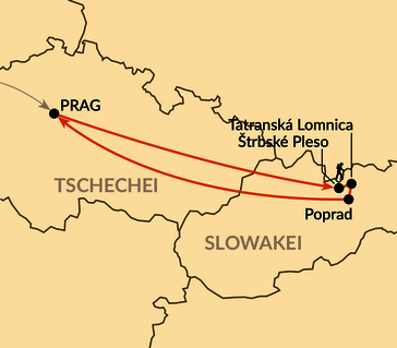 Karte: Hohe Tatra – Im kleinsten Hochgebirge der Welt