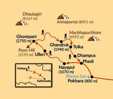 Karte: Kleine Annapurna-Runde