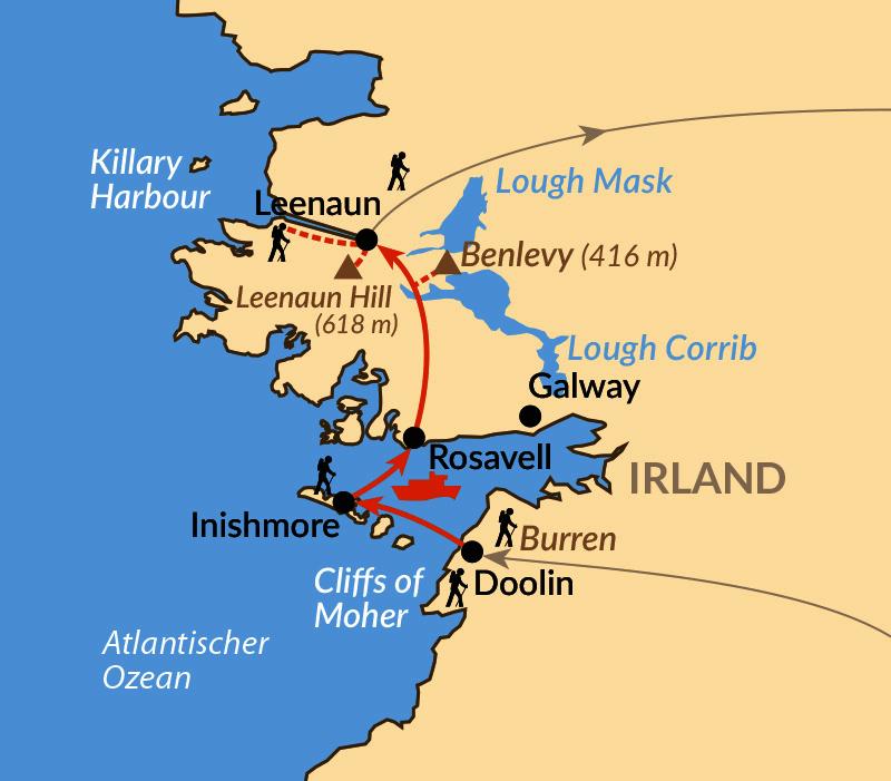 Karte: Irlands wilder Westen