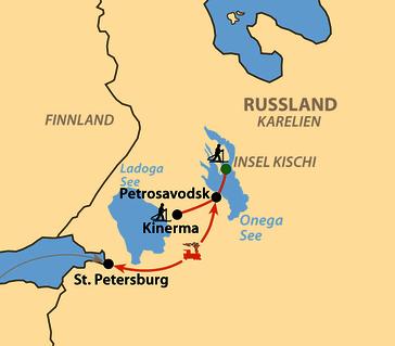 Karte: Karelien – Skiwandern im Herzen Russisch-Kareliens