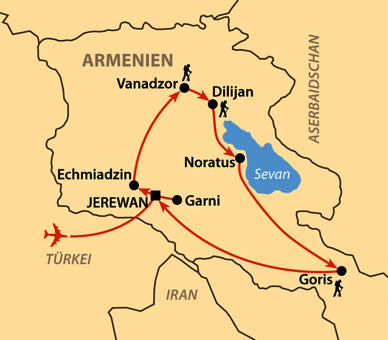 Armenien Karte.Geheimnisvolles Armenien