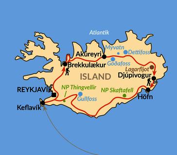 Karte: Rundum Island