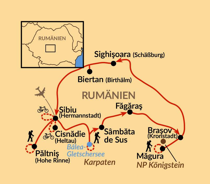 Karte: Siebenbürgen hautnah