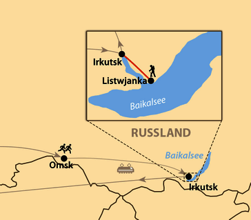Karte: Siberian Ice Half Marathon