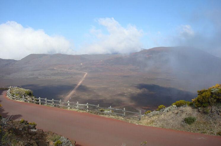 Blick zum Vulkan La Furnaise