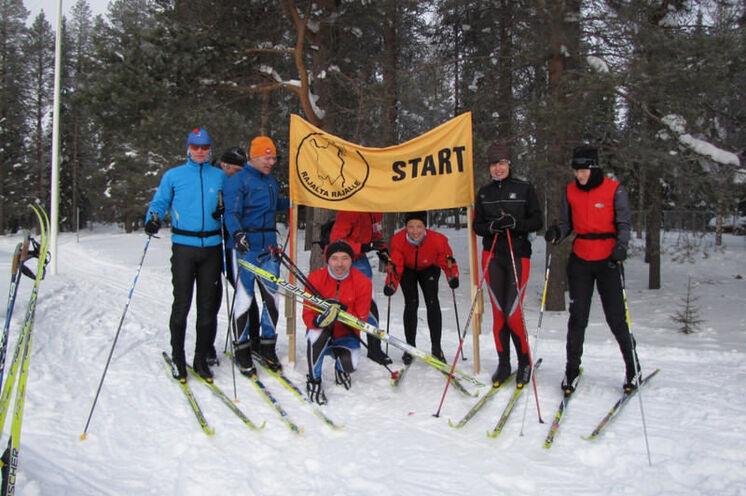 Start an der russischen Grenze in Paljakka, irgendwo im Nichts....