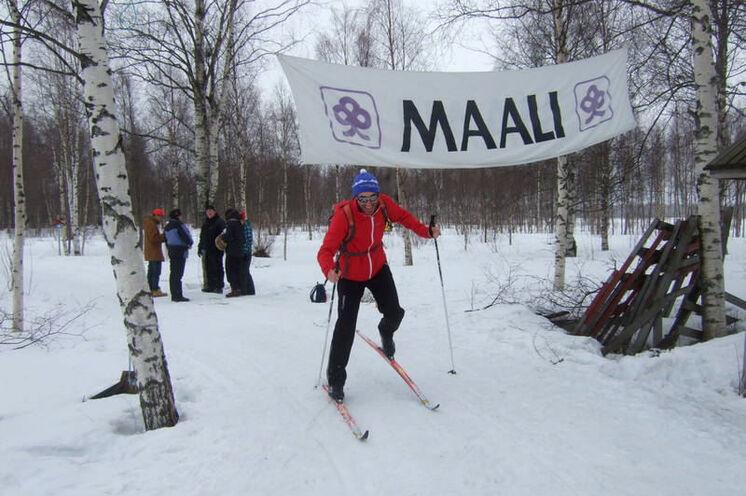 Endlich - nach 440 km der Zieleinlauf bei Tornio!