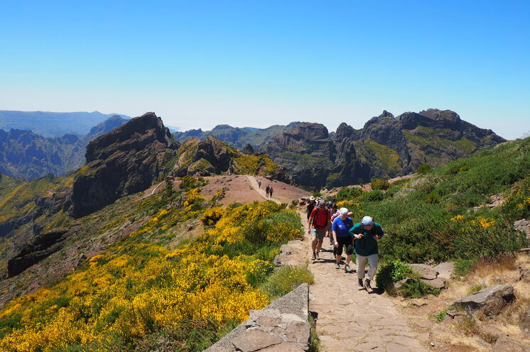 kurz vor dem Gipfel des Pico do Arieiro - das Gebirge überrascht mit seiner unglaublichen Schroffheit und fantastischen Ausblicken!