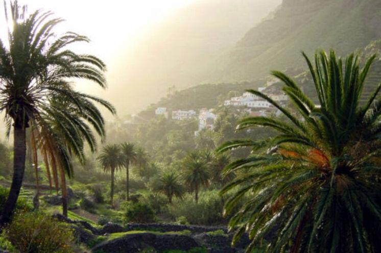Blick auf La Calera im Valle Gran Rey