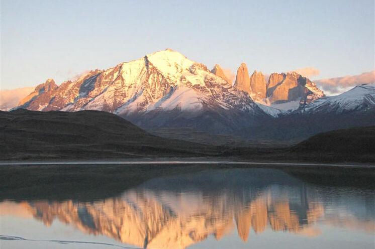 Morgenstimmung im Torres del Paine an der Laguna Amarga