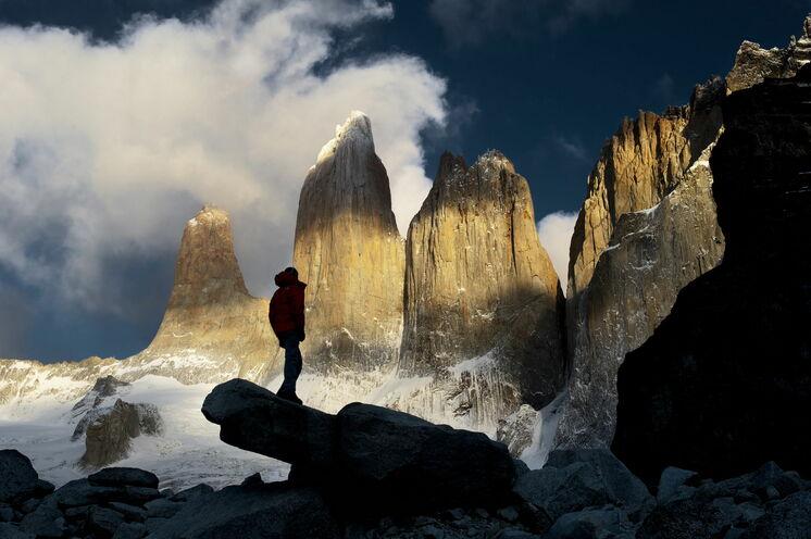Die erste Wanderung führt zu den berühmten Felsnadeln, die dem Nationalpark seinen Namen geben: den Torres (dt.: Türme).