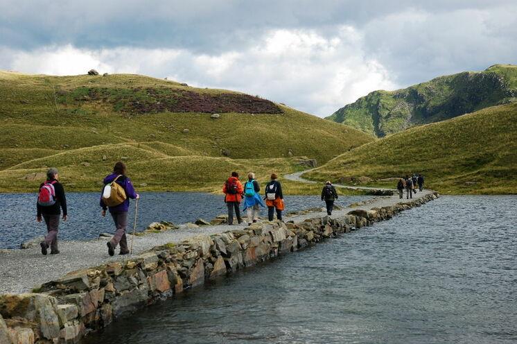 Auf Wanderung im Snowdonia-Park