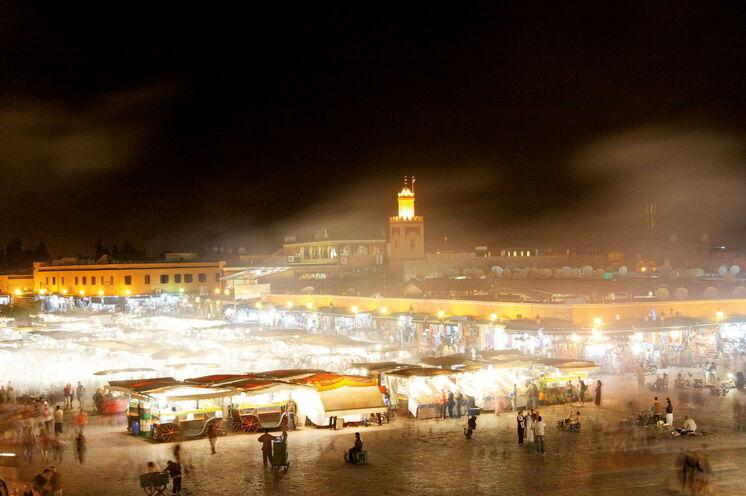 Der Djemaa el Fna in Marrakech.