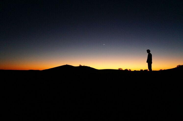 Abendstimmug in der Wüste