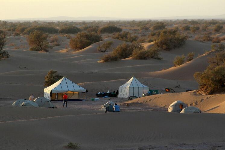Jeder Campstandort ist ein feines Fleckchen Wüstenerde