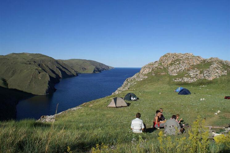 Zeltübernachtungen in ausgesuchten und abgelegenen Buchten.