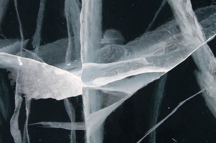 """Immer wieder überwältigend, die verschiedenen """"Ornamente"""" im Eis."""
