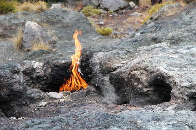 """Das """"ewige Feuer"""", ein spektakuläres Naturphänomen"""
