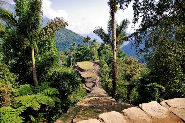 Von üppigen Bergregenwald umgeben erreichen Sie nach 1280 Treppen die Verlorene Stadt